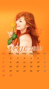 待受カレンダー 2012年4月
