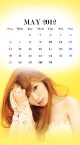 待受カレンダー 2012年5月