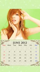待受カレンダー 2012年6月