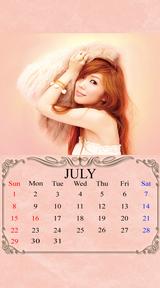 待受カレンダー 2012年7月
