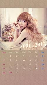 待受カレンダー 2013年4月