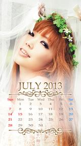 待受カレンダー 2013年7月