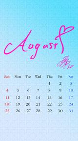 待受カレンダー 2013年8月