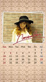 待受カレンダー 2013年11月