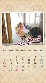 待受カレンダー 2014年4月