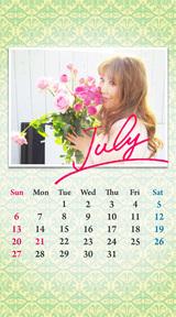 待受カレンダー 2014年7月