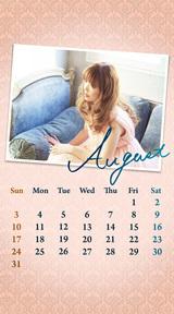 待受カレンダー 2014年8月