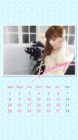 待受カレンダー 2015年2月