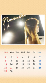 待受カレンダー 2015年11月