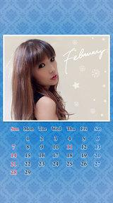 待受カレンダー 2016年2月