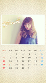 待受カレンダー 2016年3月
